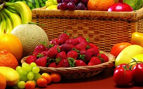 fruits, berries, strawberry, delicious