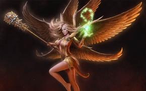 fantasy, girl, angel, wings, magic