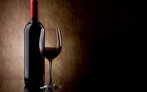 wine, bottle, wineglass, stunner