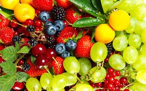berries, strawberry, cherry, delicious