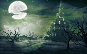 magic, art, landscape, fantasy, mist