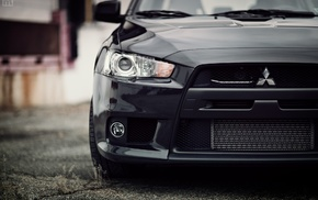 car, auto, cars, black, Mitsubishi