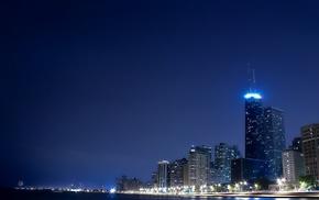 skyscrapers, light, houses, city, stunner