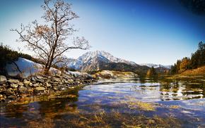 пейзаж, wallpapers, река, горы, озеро, небо