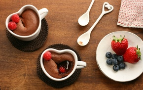 chocolate, delicious, berries, drink, strawberry