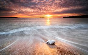 stone, water, sea, nature, stones