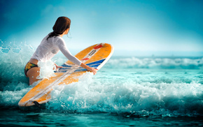 surfing, water, sports, waves, sea