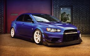 cars, Mitsubishi, garage
