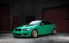BMW, m3, green, cars