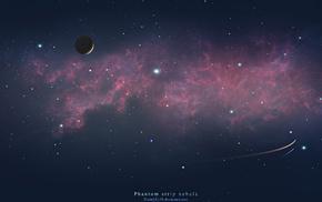 planet, nebula, space