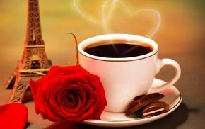 coffee, stunner, cup, chocolate, heart