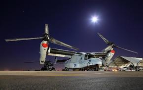 aircraft, night, airplane