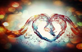 3D, love, heart