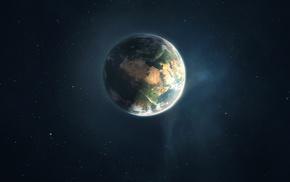 космос, Планета, звезды, земля
