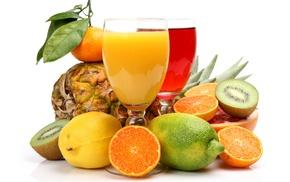 Соки, апельсины, вкусно, фрукты, мандарин, цитрусы