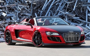 red, tuning, Audi, cars, background