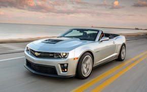 Chevrolet, sky, camaro, cars, road