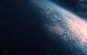 Earth, space, art, planet, atmosphere
