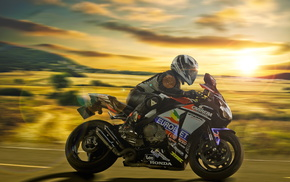 Honda, motorcycle, race, sports