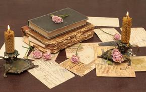 roses, vintage, flowers, stunner, books