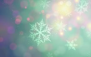 minimalism, snowflakes