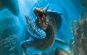Monster Hunter, video games, dragon, light