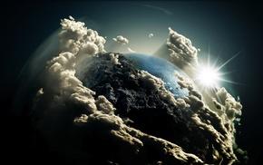 комос, небо, космос, Земля, солнце