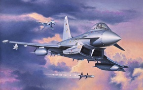 airplane, in, aircraft, art, jet fighter