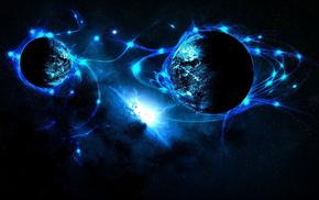 космос, синяя планета, Космос