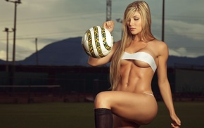beauty, blonde, sports