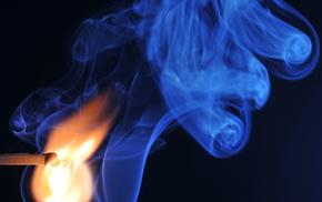 fire, macro, smoke