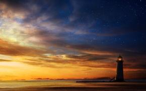 sky, sunset, stunner, art, sea