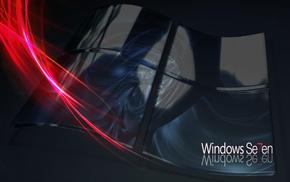 windows, цифровые, microsoft, seven, logo, lines
