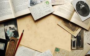vintage, sepia, stunner, book