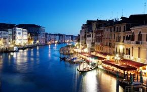 cities, evening, Italy