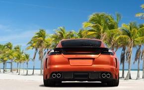 stunner, rear view, sky, Porsche