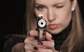 sexy, gun, girl, pistol, girls