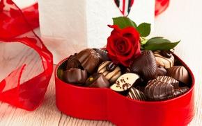 sweet, box, food, chocolate, rose