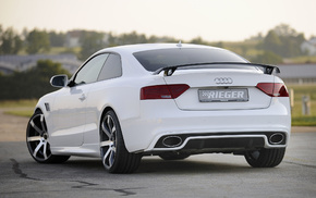 rear view, coupe, Audi, cars, tuning