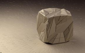 3d, линии, рендер, куб, Арт, треугольники