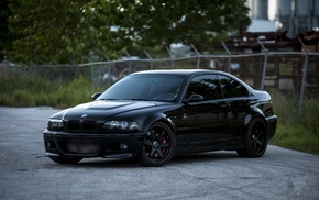 black, coupe, BMW, cars, m3