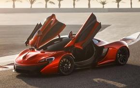 гоночный трек, автомобили, двери, MR1, пустыня, McLaren