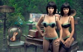 underwear, girls, view