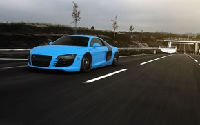 road, speed, Audi, cars