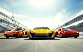 track, yellow, speed, cars, orange