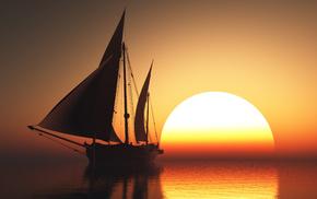 sunset, sailfish, stunner