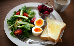 Завтрак, вкусно, еда, фон