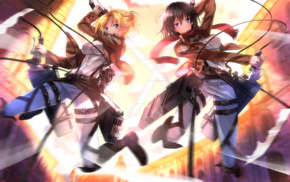 anime girls, anime, Shingeki no Kyojin, Swordsouls, Mikasa Ackerman