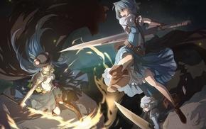 sword, Cirno, Letty Whiterock, Touhou, anime, Hinanawi Tenshi