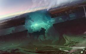 Kuldar Leement, glowing, fantasy art, artwork, futuristic